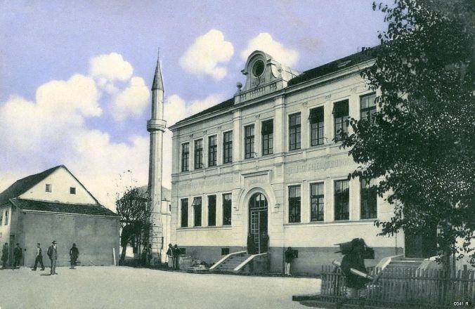 Zgrada škole iz 1909 u kojoj je danas biblioteka